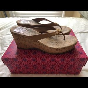 Tory Burch Heeled Sandals in brown leather